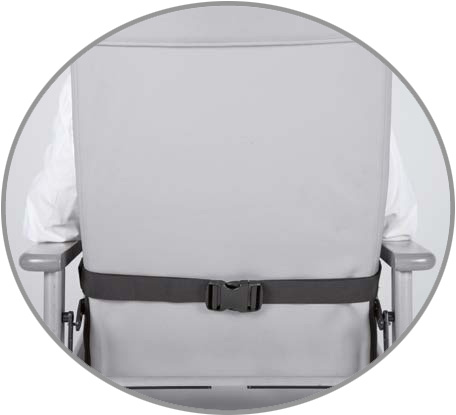 Belt for armchair or wheelchair (CLIP closure)