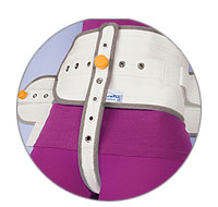 Abdominal safety belt with sewn perineal band (FR)