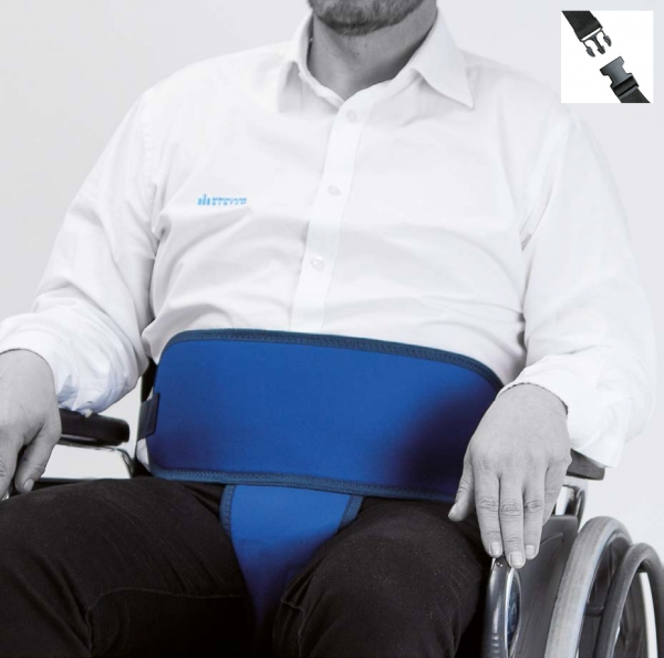 Belt with perineal for armchair or wheelchair (CLIP closure)