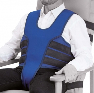 Vest with perineal for armchair