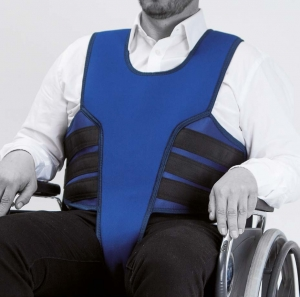Vest with perineal for wheelchair