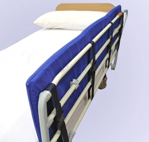Padded protector for bed rails