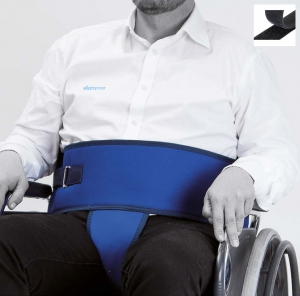 Belt with perineal for wheelchair (Velcro®  closure)