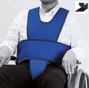 Vest with perineal for wheelchair (hook and loop fastener closure)
