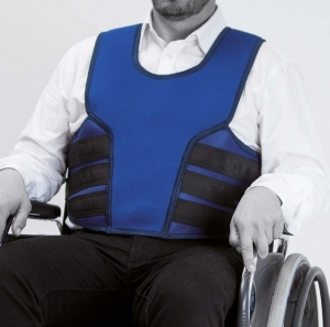 Vest for wheelchair