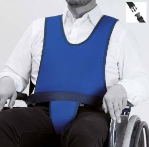 Vest with perineal for wheelchair (CLIP closure)