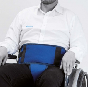 Belt with perineal for wheelchair