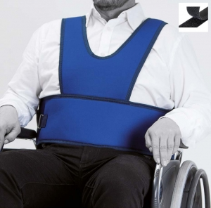 Vest for wheelchair (hook and loop fastener closure)